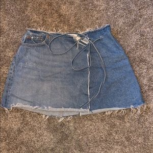 GRLFRND Denim Wrap Mini Skirt Size 27